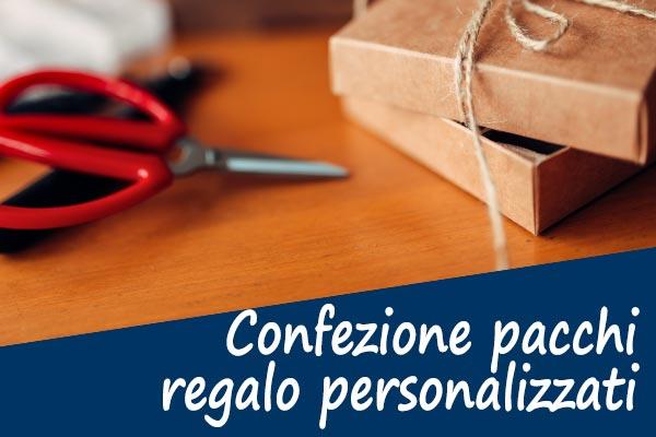 Confezione pacchi regalo personalizzati